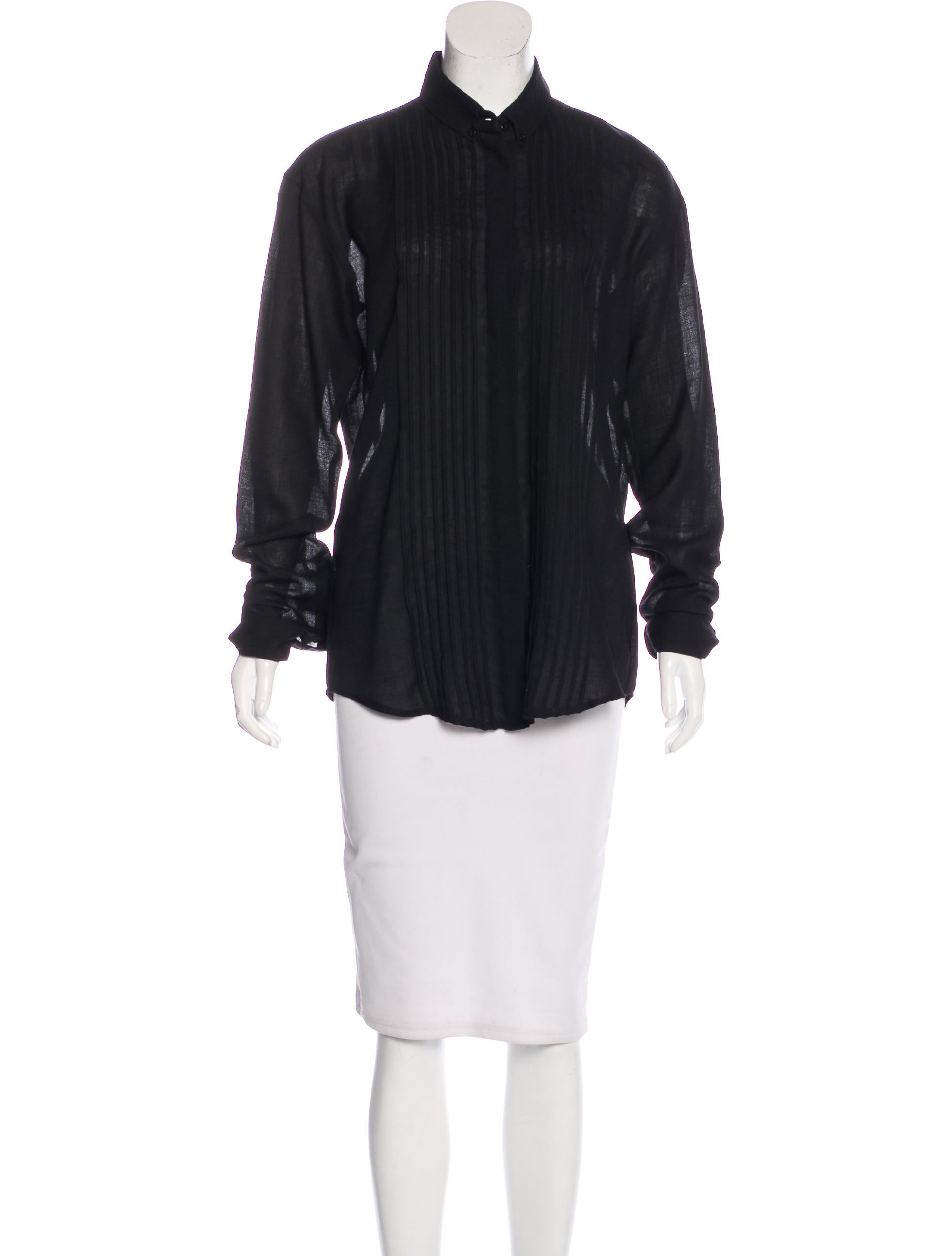 Anthony vaccarello wool button up top w tags clothing for Best wool shirt jackets