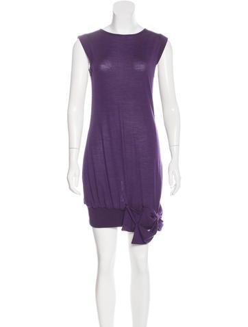 Azzaro Wool & Silk Dress None