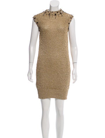 Azzaro Embellished Metallic Dress w/ Tags None