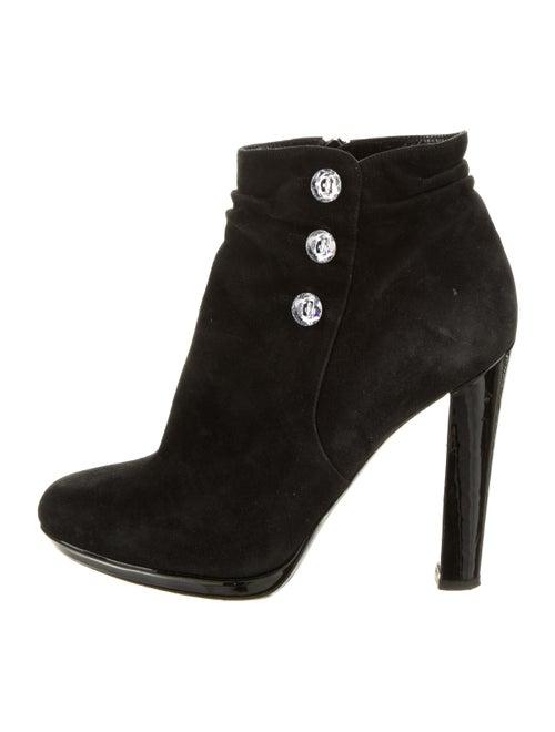 Azzaro Embellished Platform Ankle Boots Black