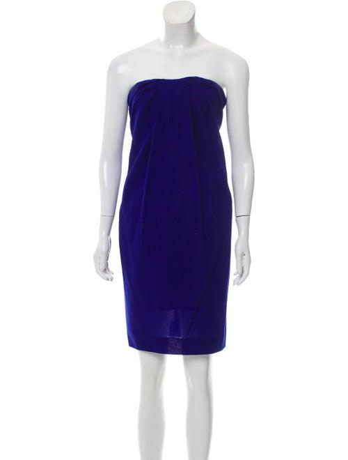 Azzaro Silk Mini Dress Purple