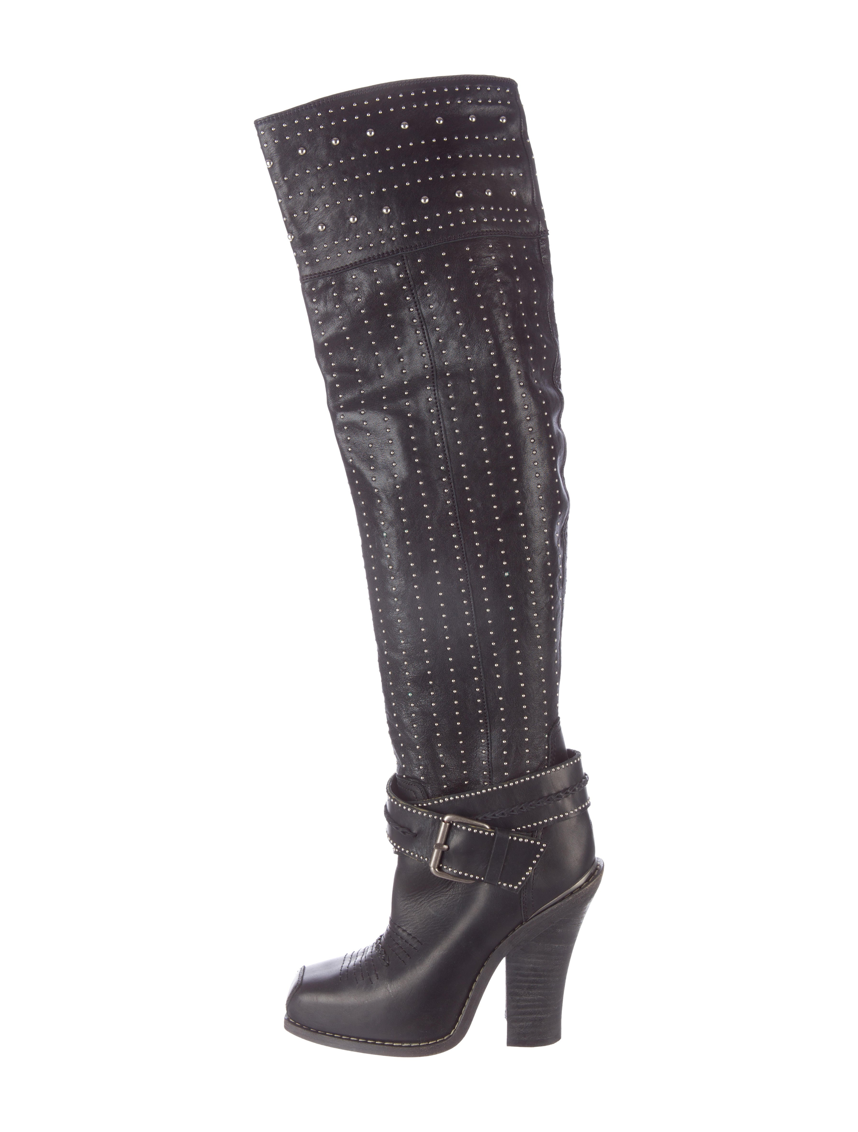 Barbara Bui Studded Knee-High Boots clearance big discount supply cheap online bm1XH0G