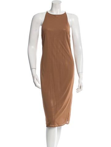 Barbara Bui Crew Neck Midi Dress None