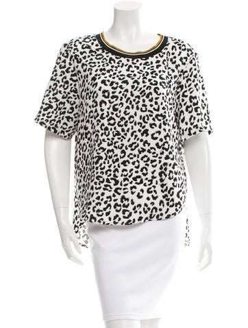 Barbara Bui Snow Leopard Print Top w/ Tags None