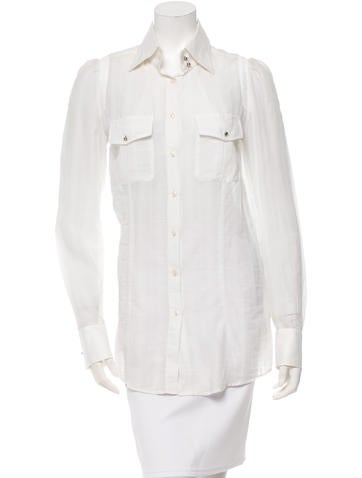 Barbara Bui Long Sleeve Button-Up Top None
