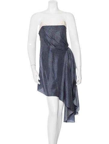 Barbara Bui Asymmetrical Silk Dress None