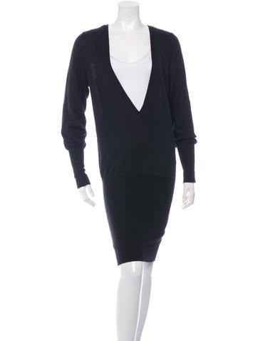 Barbara Bui Long Sleeve Sweater Dress None