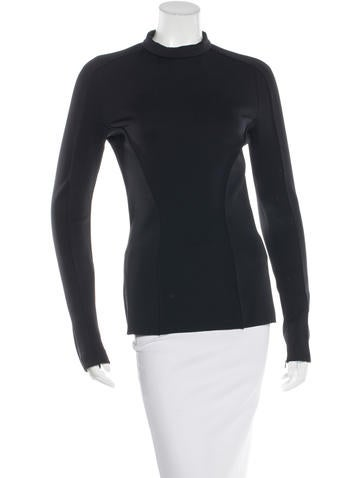 Barbara Bui Neoprene Mock Neck Top None