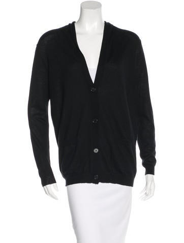 Barbara Bui Silk & Cashmere-Blend Hooded Cardigan None