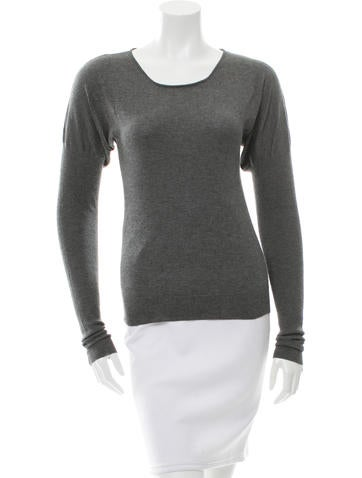 Barbara Bui Silk-Blend Long Sleeve Top None
