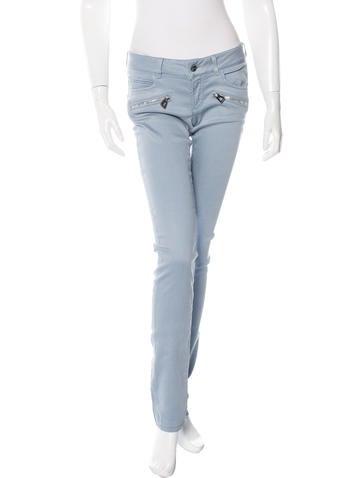 Barbara Bui Skinny-Leg Mid-Rise Jeans w/ Tags