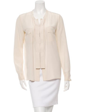 Barbara Bui Silk Button-Up Top None