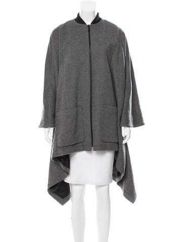 Barbara Bui Wool Asymmetrical Cape None
