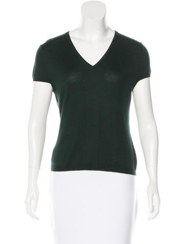 Barbara Bui Silk & Cashmere-Blend Top None