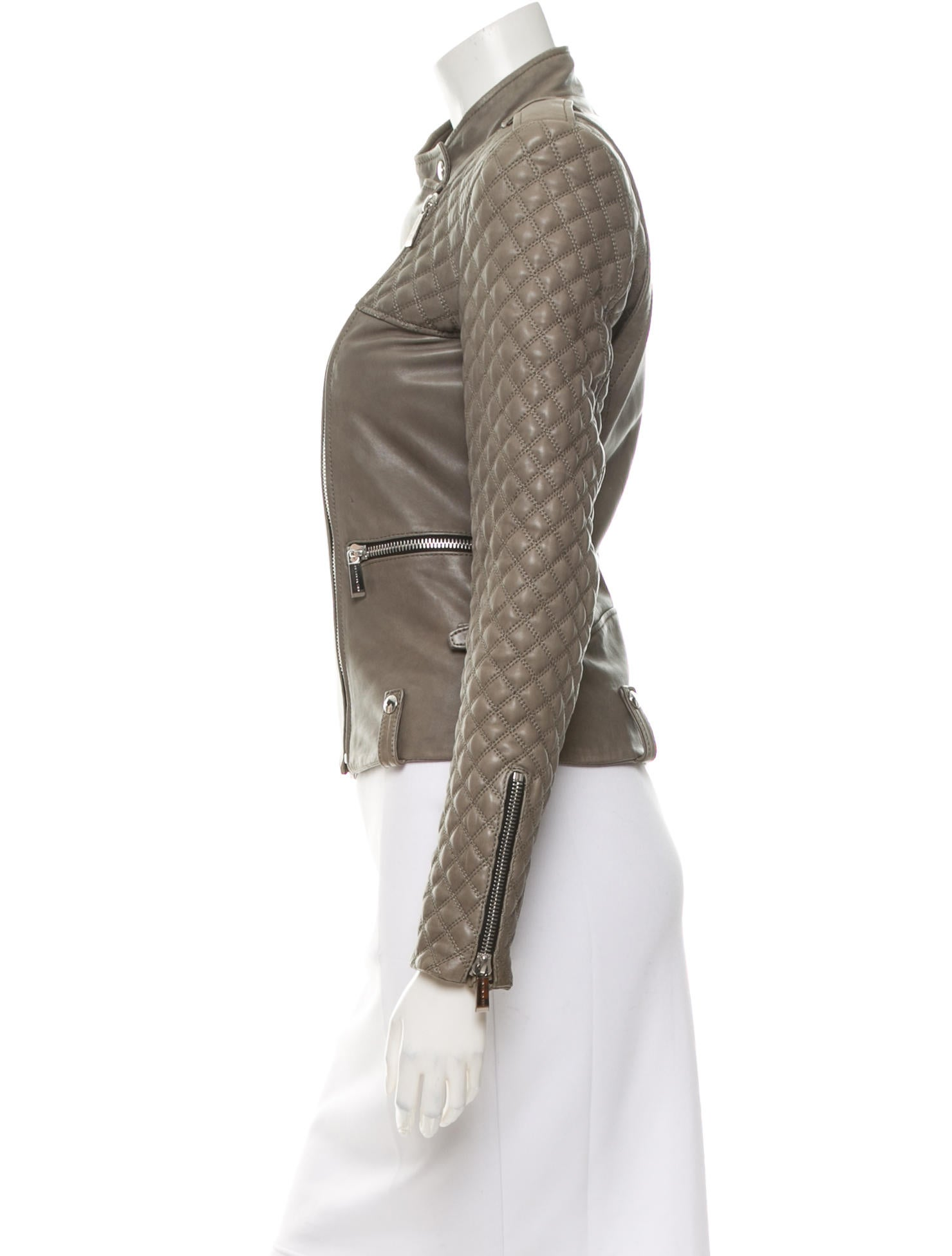 Barbara Bui Leather Asymmetrical Jacket Clothing