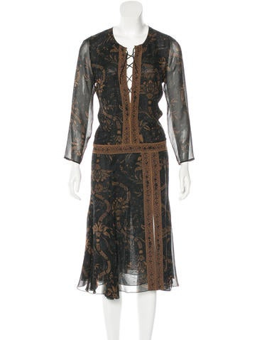 Barbara Bui Silk Paisley Print Dress None