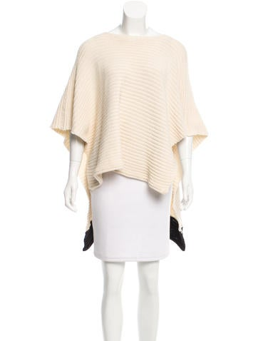 Barbara Bui Scoop Neck Knit Poncho None