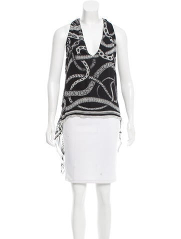 Barbara Bui Silk Printed Top None