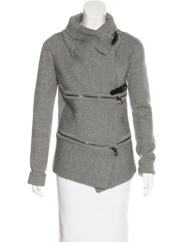 Barbara Bui Rib Knit Wool Sweater None