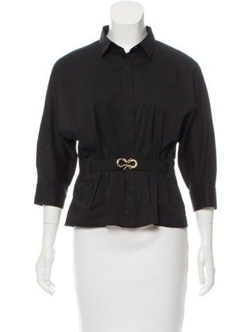 Barbara Bui Long Sleeve Button-Up Top None