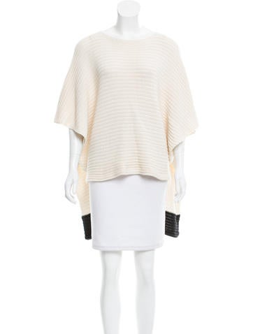 Barbara Bui Contrast Knit Poncho None