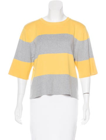 Barbara Bui Striped Crew Neck Sweater None