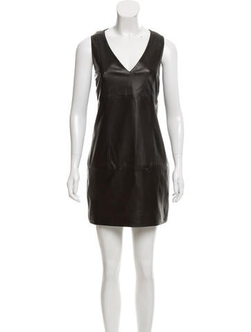 Barbara Bui Sleeveless Leather Mini Dress None