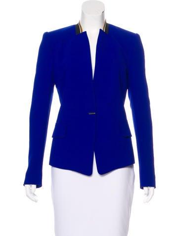 Barbara Bui Peak-Lapel Long Sleeve Blazer None
