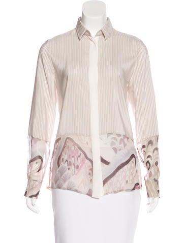 Barbara Bui Silk Printed Top None