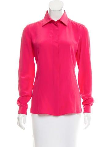 Barbara Bui Long Sleeve Silk Blouse None