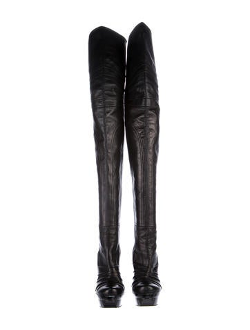 Barbara Bui Leather Over-The-Knee Boots buy cheap with paypal G4GEy2xt4