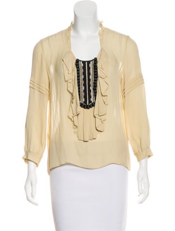 Barbara Bui Silk Embellished Top None