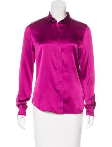 Barbara Bui Long Sleeve Silk Top None