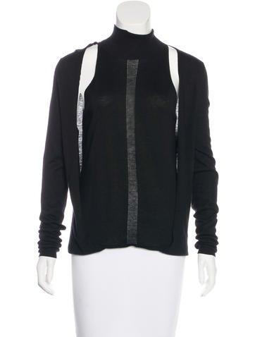 Barbara Bui Cutout Long Sleeve Sweater None