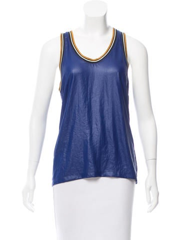 Barbara Bui Sleeveless Scoop Neck Top w/ Tags None