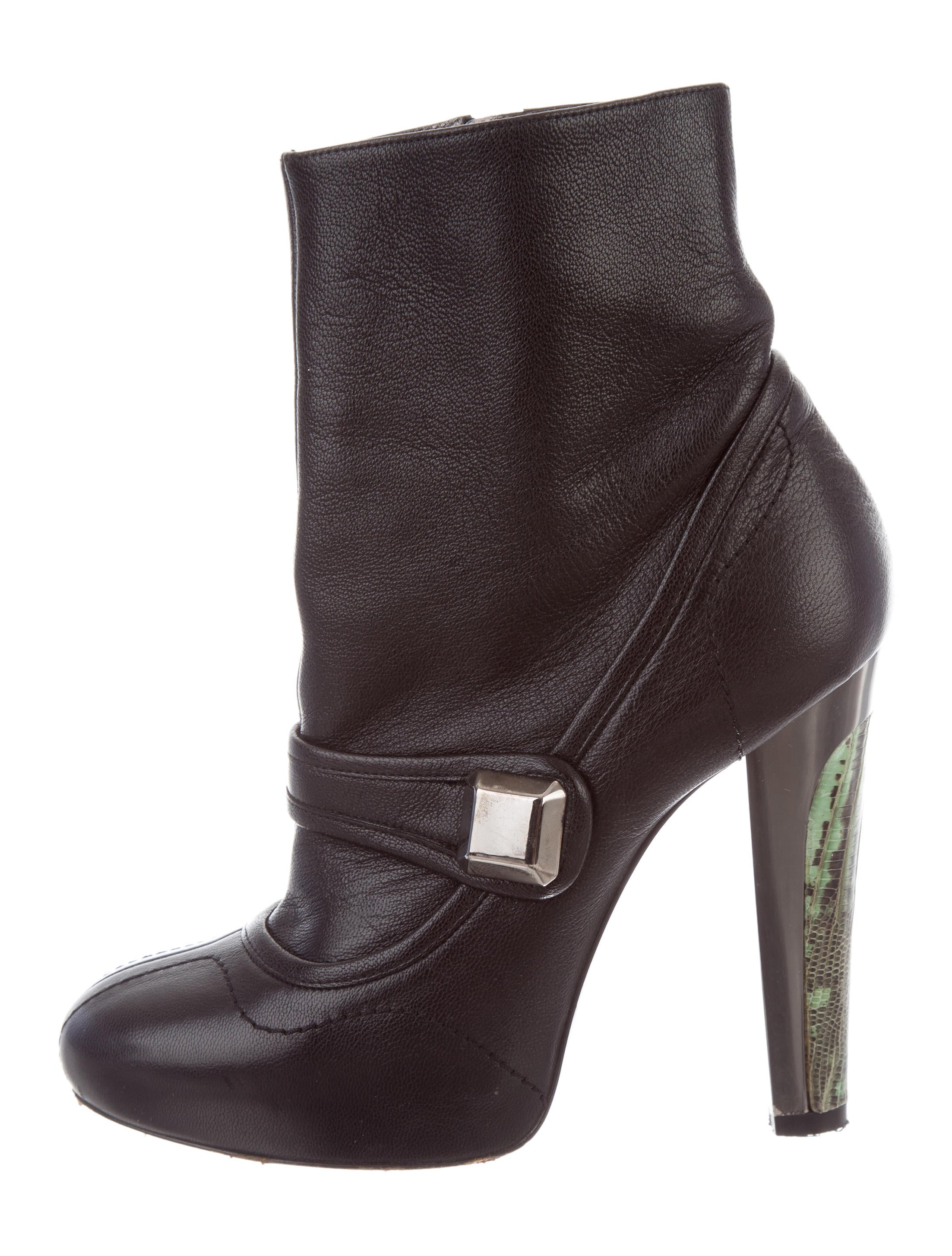 Barbara Bui Leather Round-Toe Ankle Boots cheap sale visit PWjz2P