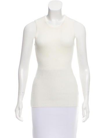 Barbara Bui Sleeveless Rib Knit Top None
