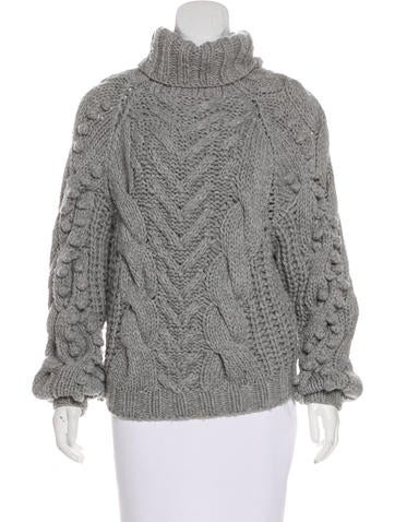 Barbara Bui Cable Knit Wool Sweater None