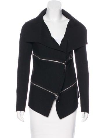 Barbara Bui Silk Rib Knit Jacket None