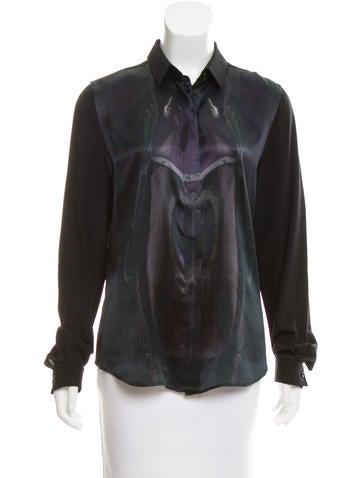 Barbara Bui Silk Button-Up Top None