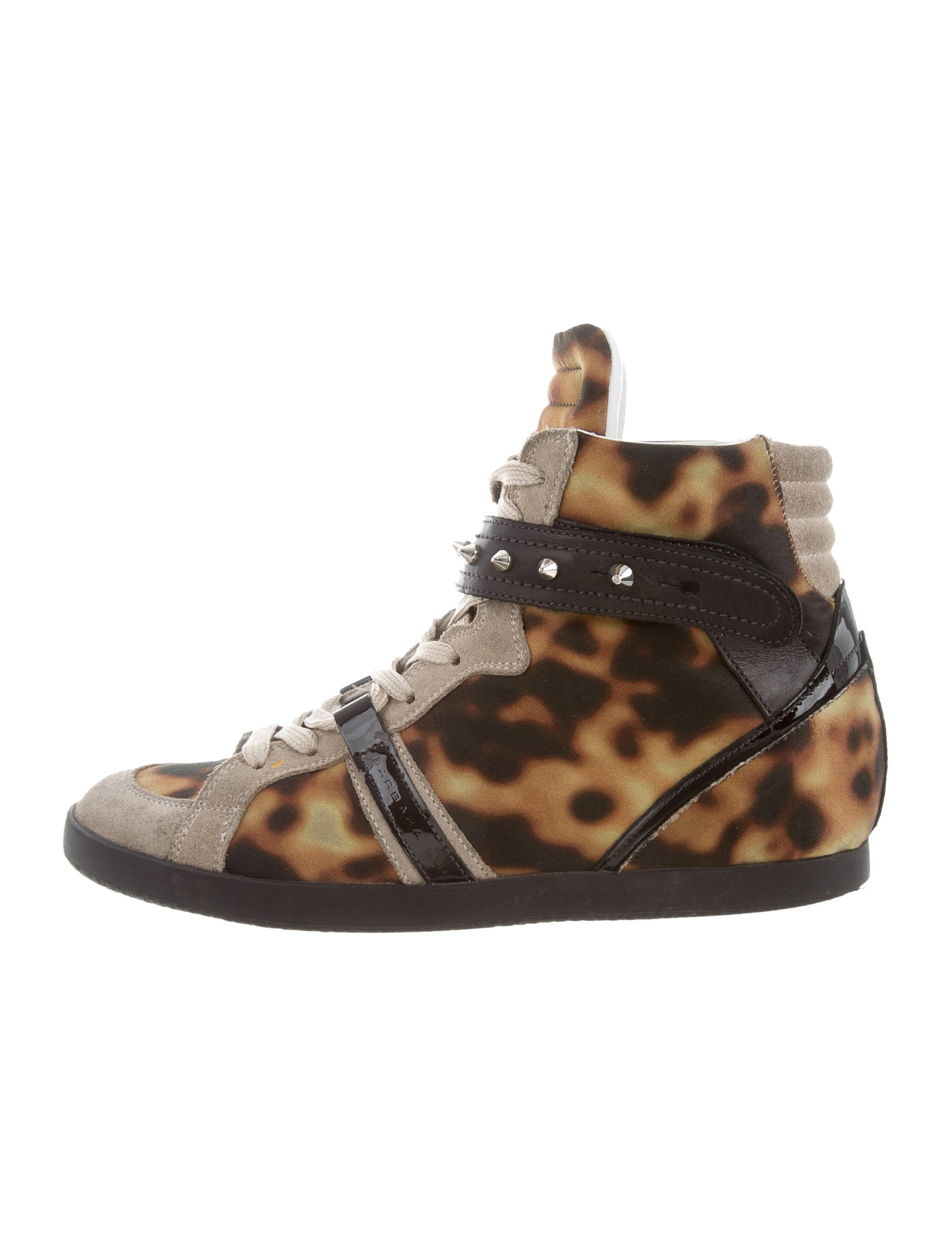 7f3d256da839 Barbara Bui Studded Wedge Sneakers - Shoes - BAB24842