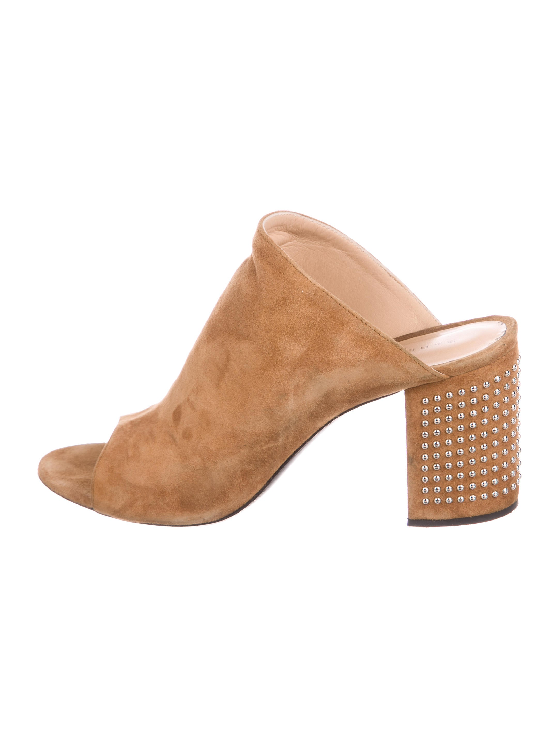 Barbara Bui Suede Studded Mules Cheapest sale free shipping good selling professional online T4JqiPFHo