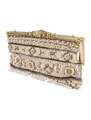 Beaded Frame Clutch