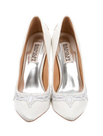 Embellished Pointed-Toe Pumps w/ Tags