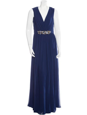 Embellished Silk Gown