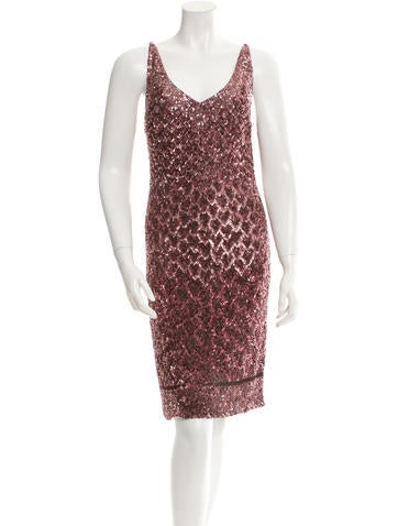 Badgley Mischka Sequined Cocktail Dress