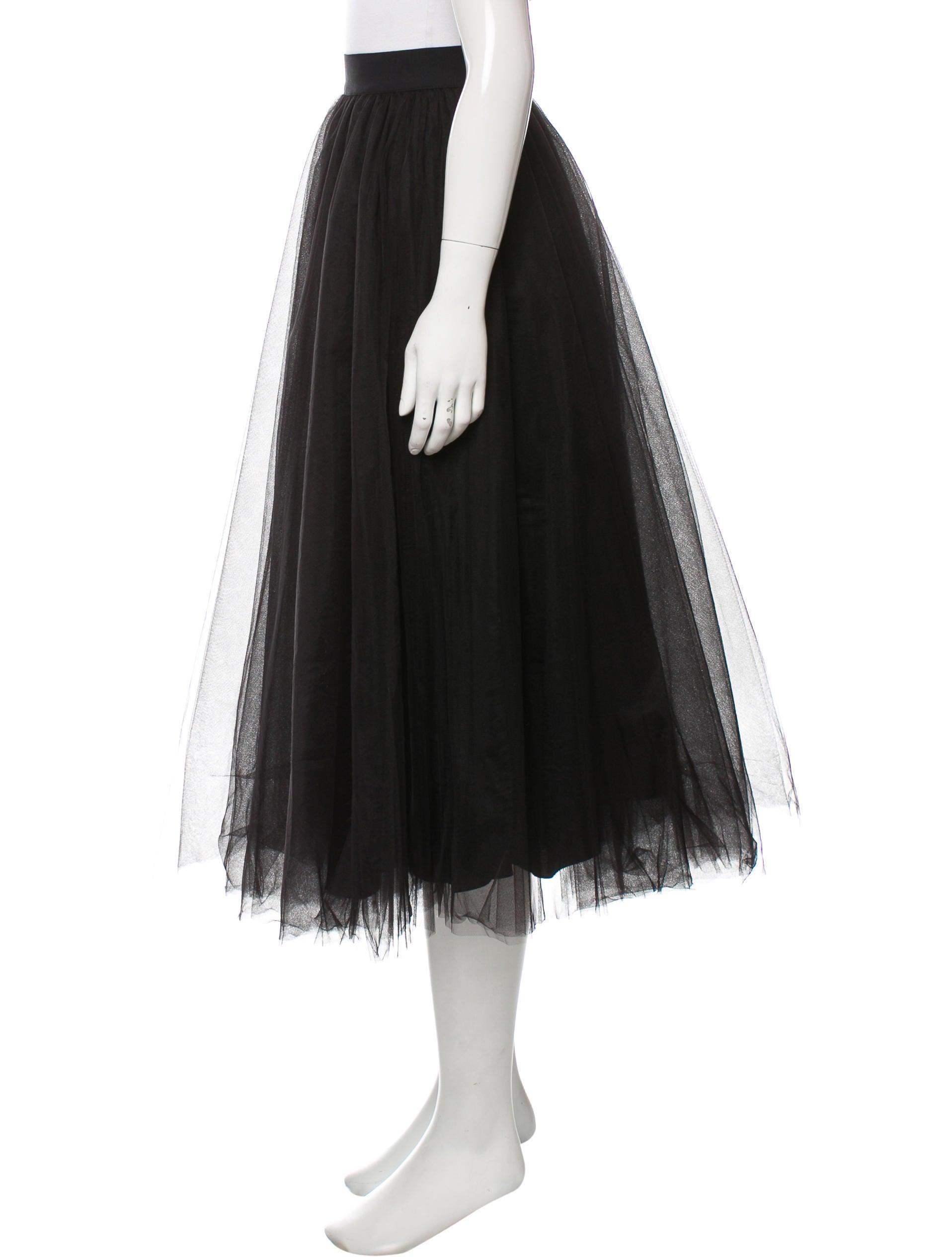 badgley mischka tulle midi skirt clothing bag21124