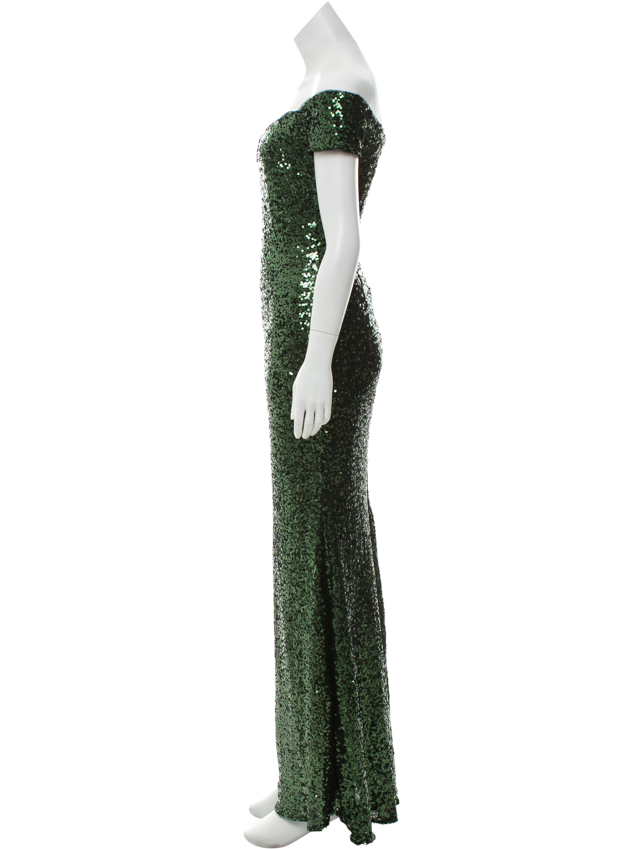 Badgley Mischka Sequin Sheath Gown - Clothing - BAG22835 | The RealReal