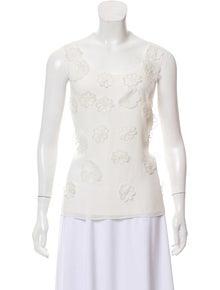333021a8f Badgley Mischka. Sleeveless Floral Top. Size: M