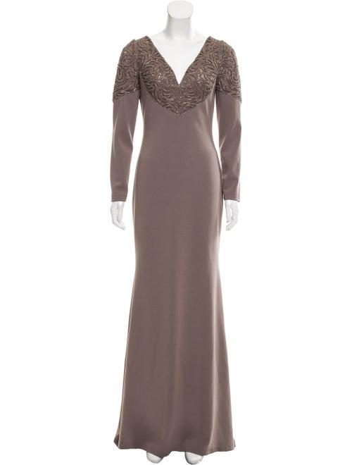 Badgley Mischka Studded Maxi Dress